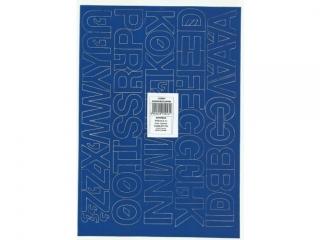 Litery samoprzylepne ART-DRUK  30mm niebieskie Helvetica 10