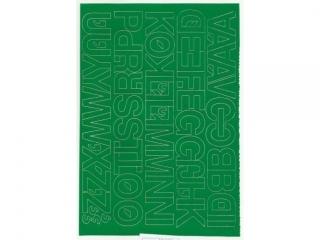Litery samoprzylepne ART-DRUK  30mm zielone Helvetica 10 ark