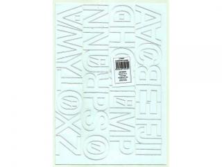 Litery samoprzylepne ART-DRUK  40mm bia³e Helvetica 10 arkus