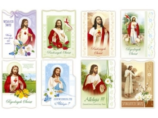 Laurka B6 Religijna Brokat Wielkanoc