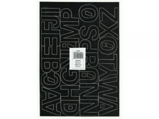 Litery samoprzylepne ART-DRUK  40mm czarne Helvetica 10 arku