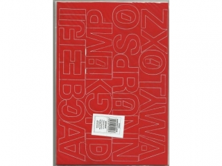 Litery samoprzylepne ART-DRUK  40mm czerwone Helvetica 10 ar