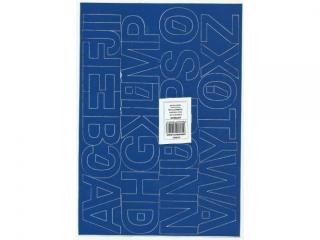 Litery samoprzylepne ART-DRUK  40mm niebieskie Helvetica 10