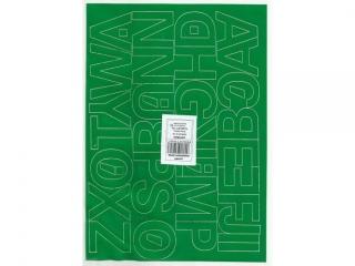 Litery samoprzylepne ART-DRUK  40mm zielone Helvetica 10 ark