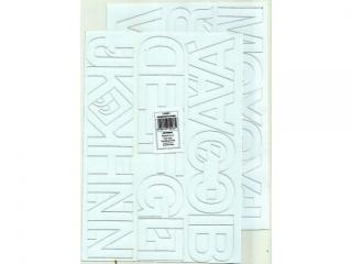 Litery samoprzylepne ART-DRUK  50mm bia³e Helvetica 10 arkus