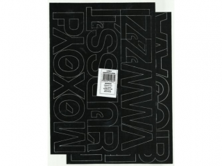 Litery samoprzylepne ART-DRUK  50mm czarne Helvetica 10 arku