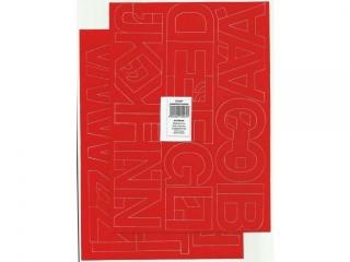 Litery samoprzylepne ART-DRUK  50mm czerwone Helvetica 10 ar