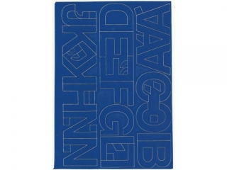 Litery samoprzylepne ART-DRUK  50mm niebieskie Helvetica 10