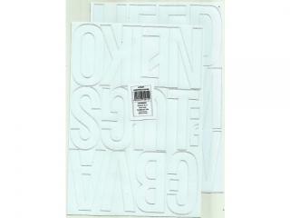Litery samoprzylepne ART-DRUK  80mm bia³e Helvetica 10 arkus
