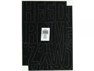 Litery samoprzylepne ART-DRUK  80mm czarne Helvetica 10 arku