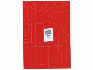 Litery samoprzylepne ART-DRUK  80mm czerwone Helvetica 10 ar