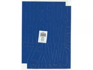 Litery samoprzylepne ART-DRUK  80mm niebieskie Helvetica 10