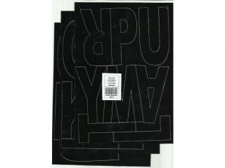 Litery samoprzylepne ART-DRUK 100mm czarne Helvetica 10 arku