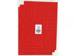 Litery samoprzylepne ART-DRUK 100mm czerwone Helvetica 10 ar