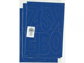 Litery samoprzylepne ART-DRUK 100mm niebieskie Helvetica 10