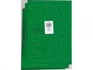Litery samoprzylepne ART-DRUK 100mm zielone Helvetica 10 ark