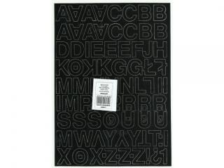 Litery samoprzylepne ART-DRUK 25mm czarne Helvetica 10 arkus