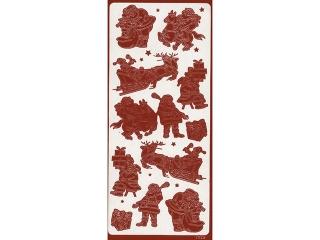 Naklejka ozdobna GWIAZDORKI RÓ¯NE 1754czerwone