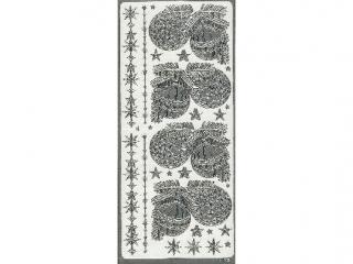 Naklejka ozdobna BOMBKI DU¯E srebrne 1875