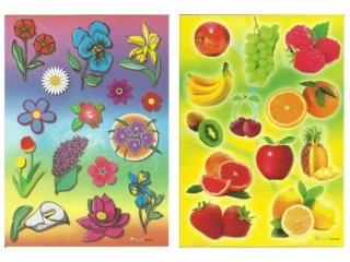 Naklejki POLSYR Du¿e - owoce/kwiaty 25szt.