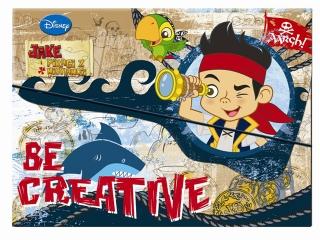 Zestaw kreatywny w teczce BENIAMIN Jake i piraci z Nibylandi