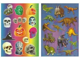 Naklejki POLSYR Du¿e - hallowen/dinozaury 25szt.