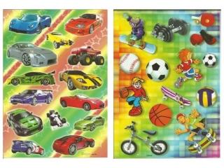 Naklejki POLSYR Du¿e - sport/auta 25szt.