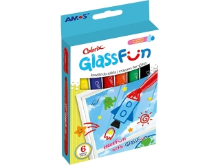 Kredki do szk³a AMOS  fun glass GF6P 6 kolorów