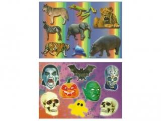 Naklejki POLSYR Ma³e - halloween/dzikie zwierzêta 25ark.