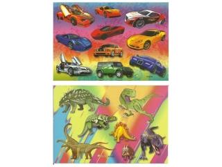 Naklejki POLSYR Ma³e - auta/dinozaury 25ark.