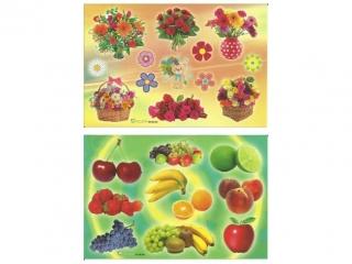 Naklejki POLSYR Ma³e - kwiaty/owoce 25ark.