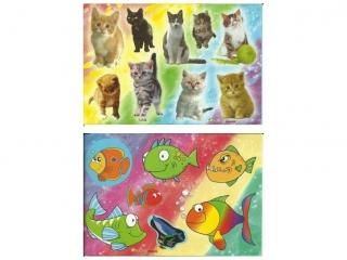 Naklejki POLSYR Ma³e - rybki/koty 25ark.