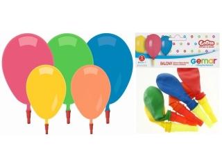 Balony Premium, z gwizdkiem, 5 szt.
