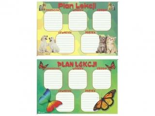 Plan lekcji (naklejka) M motyle/psy