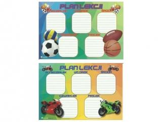 Plan lekcji (naklejka) M motory/sport