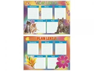 Plan lekcji POLSYR A5 25ark. - kwiatki/kotki
