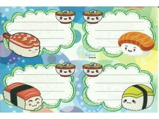 Naklejki na zeszyty POLSYR Ma³e - sushi 25ark.