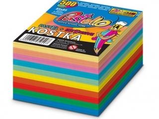Kostka nieklejona 10 kolor 85x85 mm 500 kartek