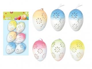 Ozdoba jajka plastik 6cm 6 szt. mix S180260