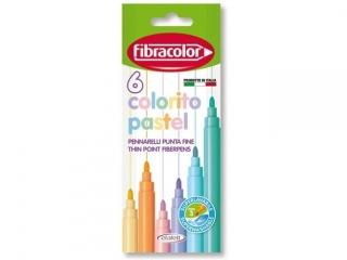 Pisaki FIBRACOLOR Colorito Pastel 6 kolorów 3mm eurolock