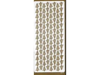 Naklejka ozdobna pasek choinek 2275 z³ota