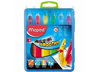 Kredki MAPED Colorpeps Smoothy - ¿elowe 6szt.
