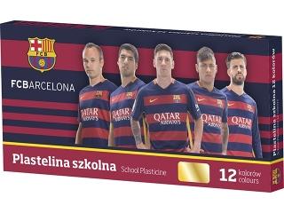 Plastelina szkolna 12 kolorów ASTRA FC Barcelona