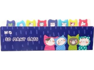 Karteczki samoprzylepne M&G So Many Cats, 8 znaczników x 20 ark. 15x53mm