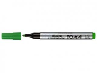 Markery permanentne TOMA koñcówka okr±g³a, zielony