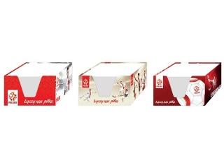 Kostka papierowa bia³a 9x9x5 w kubiku INTERDRUK PZPN