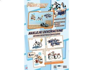 Naklejki dekoracyjne INTERDRUK A3 4 arkusze Pingwiny Movie