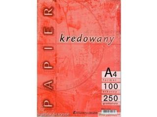 Papier 300g A4-100 kredowany KRESKA