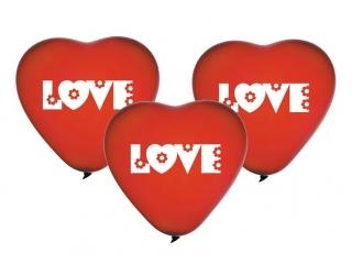 "Balony Premium ""Love"" , serca / 5szt"