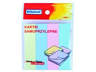 KARTKI SAMOPRZYLEPNE 19MMx76MM/4 0779.